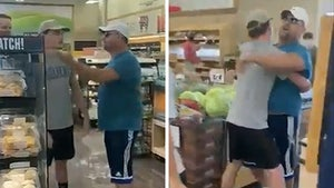 Dad's Anti-Mask Tirade Ends with Son Carrying Him Out of Store