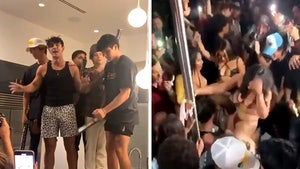 TikTok's Bryce Hall Hosts Massive Party in L.A., Real & Fake Cops Show