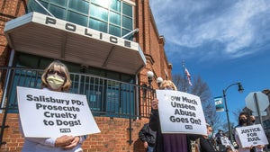 PETA Protests North Carolina Police Dept. Where K-9 Choked and Hit
