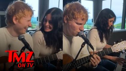 Ed Sheeran Teases New Song with Courtney Cox | TMZ TV.jpg