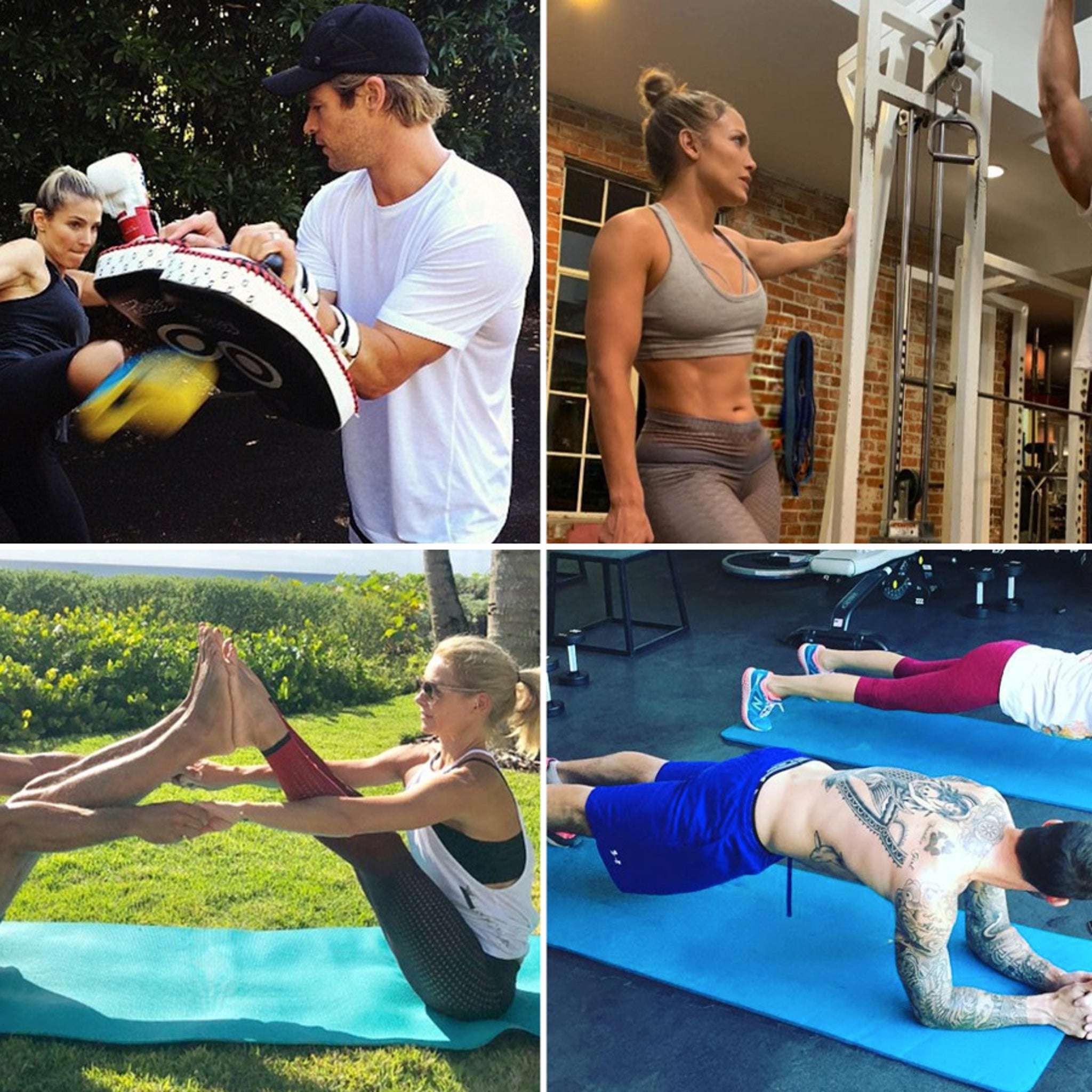 Celebrity Workout Couples -- Train Together, Stay Together!