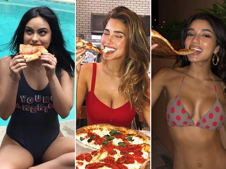 Sexy Stars Eating Pizza