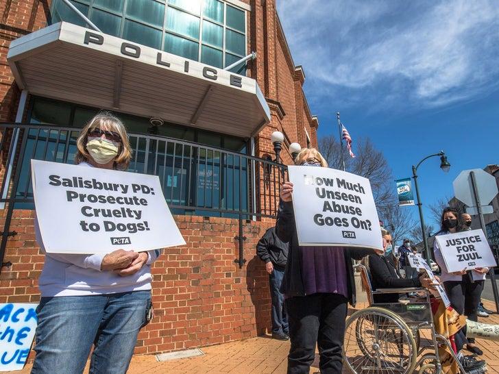 PETA Protests NC Police For Choking K-9