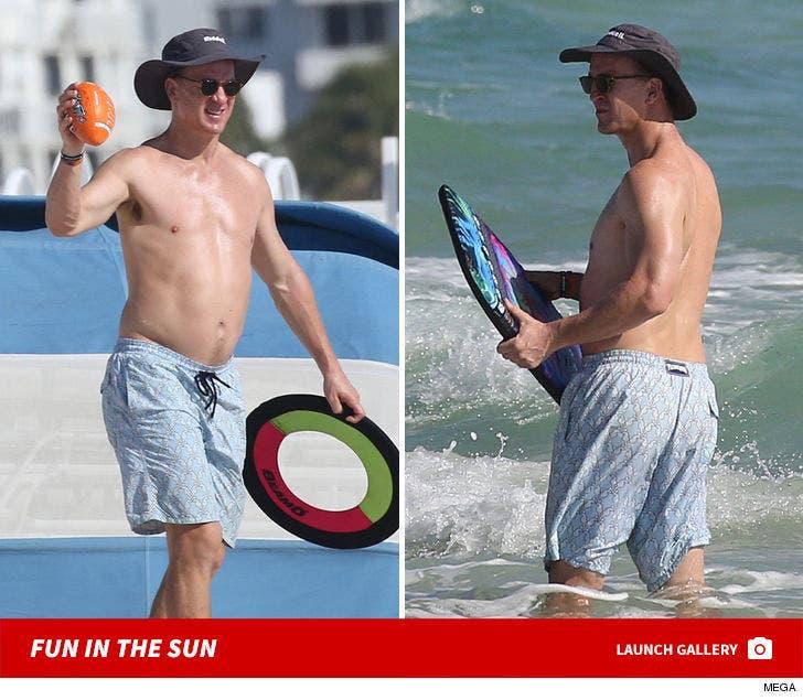 Peyton Manning -- Miami Beach Day