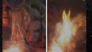 Courtney Stodden -- Hair Catches Fire!! (VIDEO)