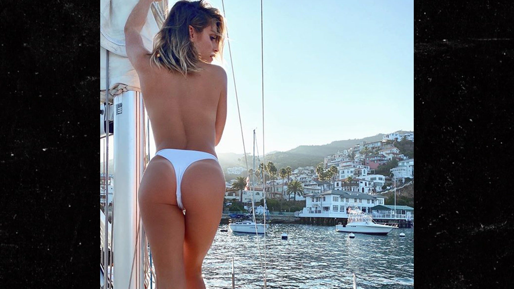 Topless models in thong bikinis top porn images