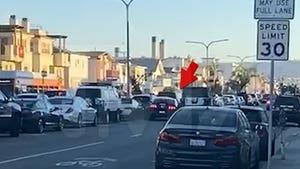Two MAGA Vehicles Involved in Hermosa Beach Road Rage Crash, Car Flips