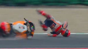 MotoGP Champ Marc Marquez Violently Thrown From Bike In Terrifying Crash