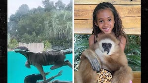 Chris Brown's Daughter, Royalty, Visits Doc Antle's Zoo