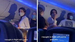 Airline Passenger Pushes COVID Conspiracy On Microphone