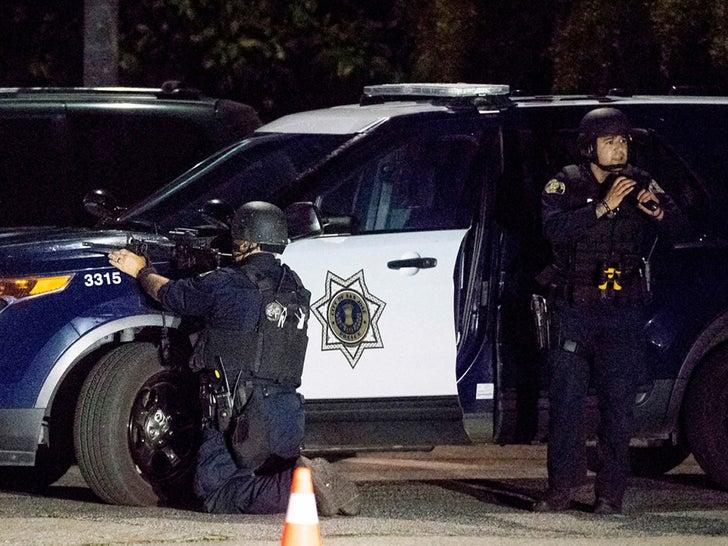 Garlic Festival Shooting -- Police on the Scene