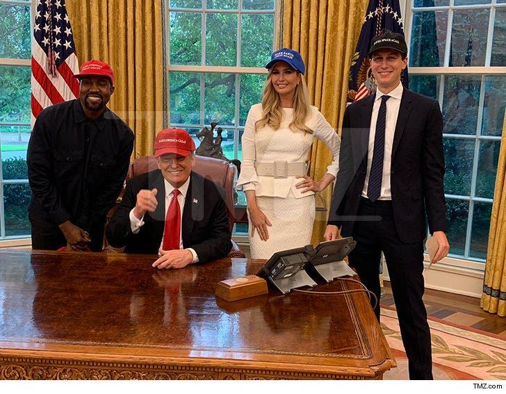 Kayne x MAGA with the Trumps