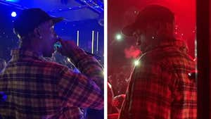 Travis Scott Hits Up After-Party and Grabs the Mic as Crowd Goes Insane