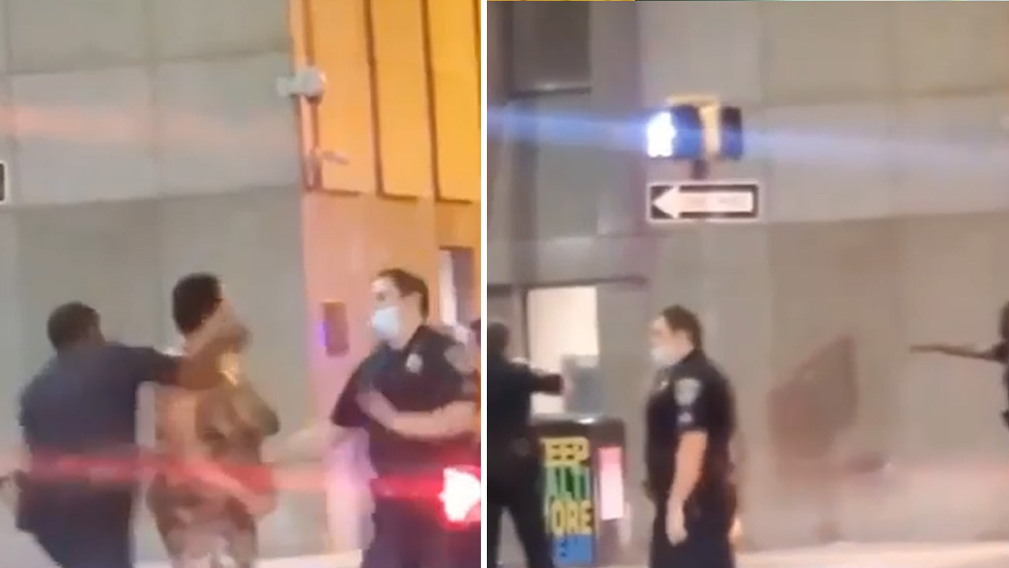 Baltimore Police Officer Knocks Out Woman ... She Smacked Fellow Cop