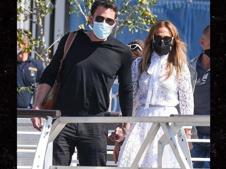 Ben Affleck and Jennifer Lopez Arrive at Venice Film Festival