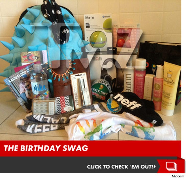 Kylie Jenner's Sweet 16 Swag Bags