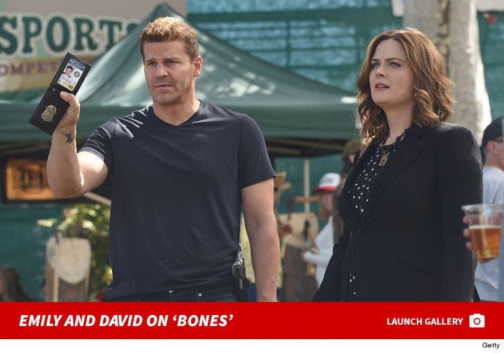 Emily Deschanel And David Boreanaz On 'Bones'