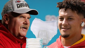 Andy Reid Coaching Patrick Mahomes On Changing Diapers, I Crack Under Pressure