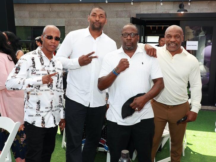 Zab Judah, Metta World Peace, Bobby Brown and Mike Tyson