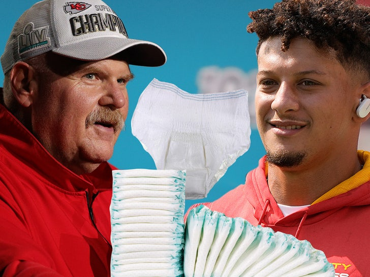 Andy Reid Coaching Patrick Mahomes On Changing Diapers, I Crack Under Pressure.jpg