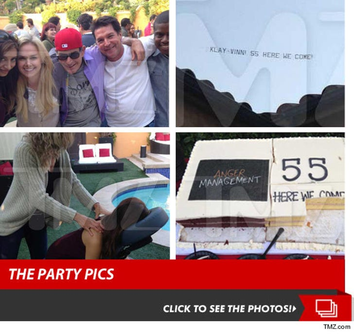 Charlie Sheen -- Throws MASSIVE Rager ... For Entire 'Anger Management' Staff