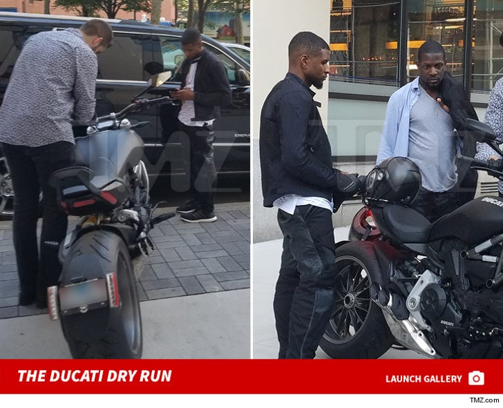 Usher's $25k Ducati Test Drive