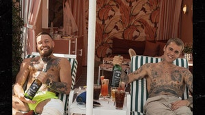 Justin Bieber and Conor McGregor Keep Bro'ing Out, In Person!!!