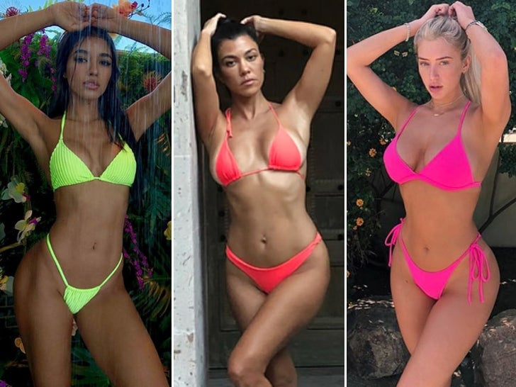Bright Babes In Neon Swimsuits