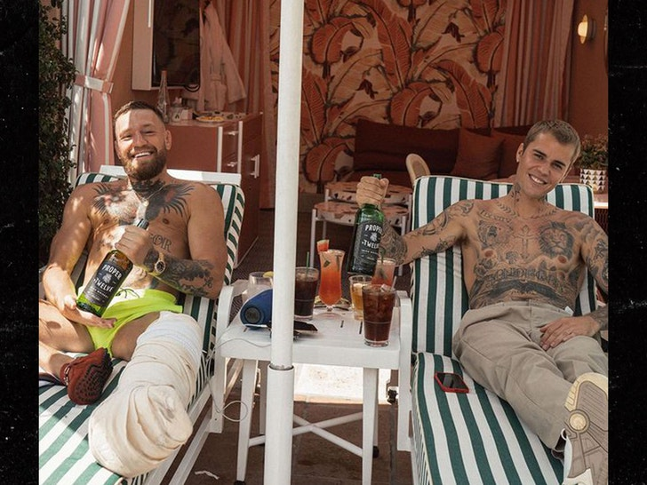 Justin Bieber and Conor McGregor Keep Bro'ing Out, In Person!!!.jpg