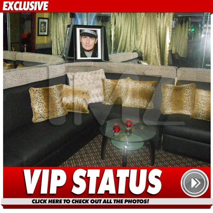 Charlie Sheen HONORED In Strip Club VIP Room