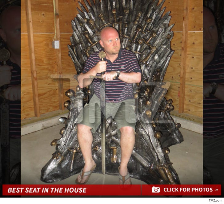'Game of Thrones' Fan Wins -- Best Seat in the House!