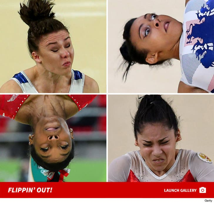 Olympic Gymnasts' Funny Faces