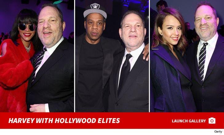 Harvey Weinstein with Hollywood Elites