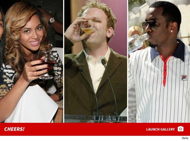 Stars Drinking -- Bottoms Up!