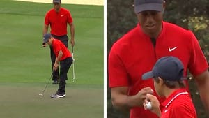 Tiger Woods' Son Charlie, Sinks Putt and Fist Pumps Like His Dad