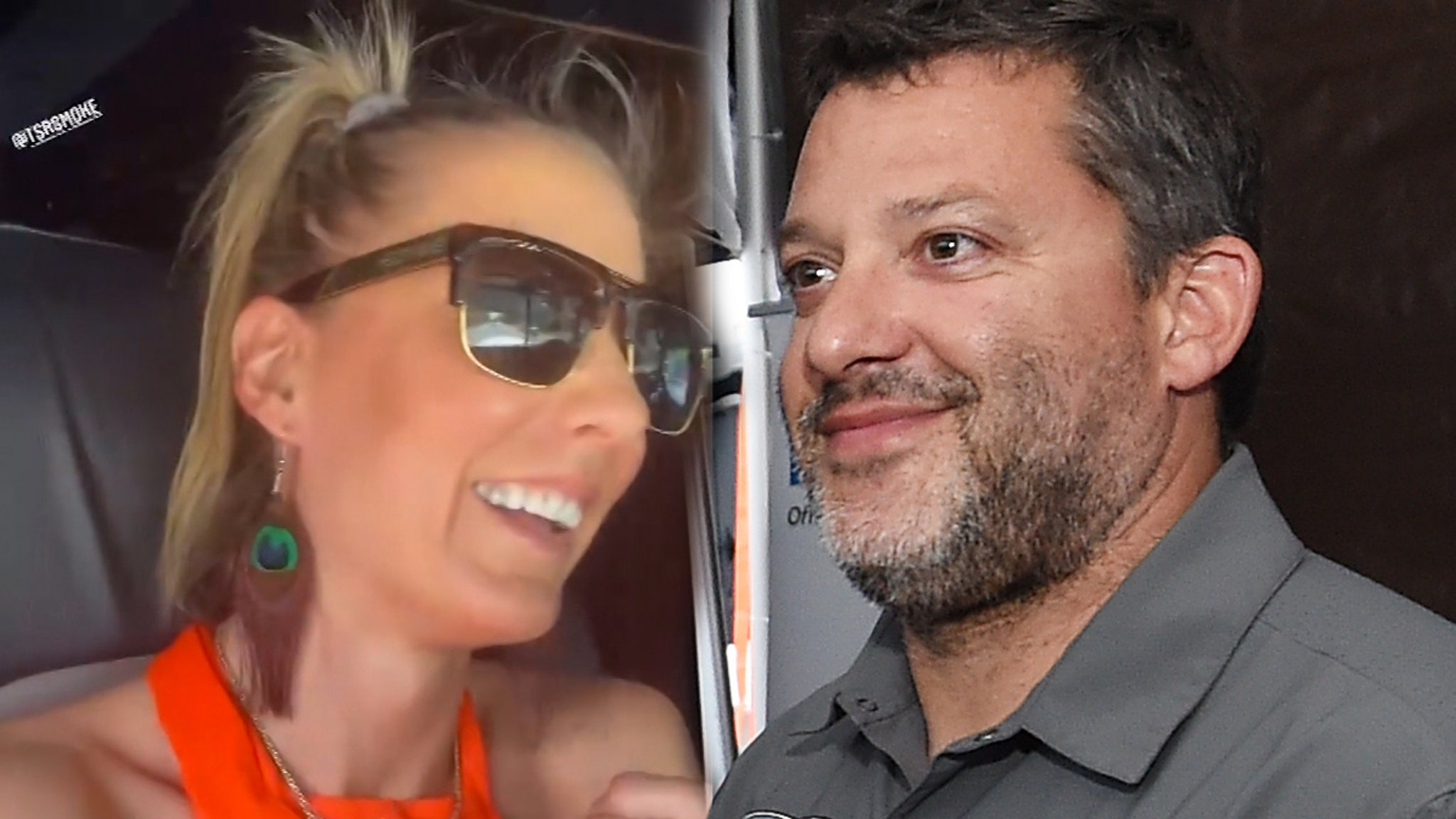 Tony Stewart Engaged To Drag Racer Leah Pruett ... See The Massive Rock!!!