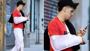 LaMelo Ball Steps Out In NYC Wearing Sling After Undergoing Wrist Surgery