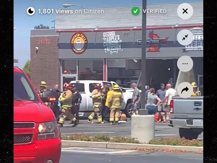 crash at restaurant where george lopez was