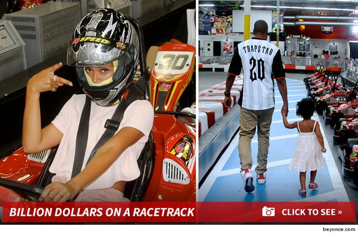 Beyonce and Jay Z Take Blue Ivy Go Karting