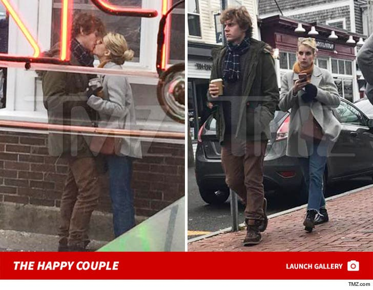 Emma Roberts Evan Peters Spotted Kissing