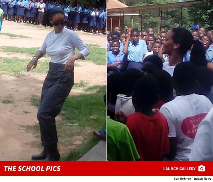 Rihanna Has Girl Power on the Brain in Malawi