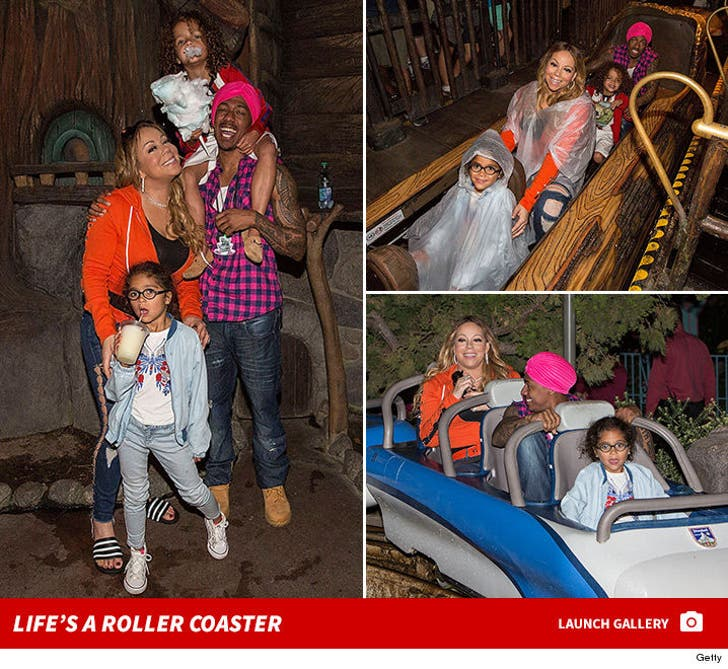 Mariah Carey and Nick Cannon Celebrate Twins' 6th Bday At Disneyland