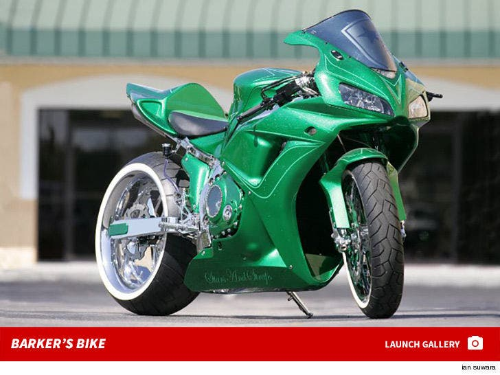 Travis Barker's Famous Stars and Straps Motorcycle -- For Sale!