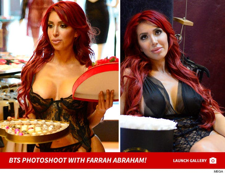 BTS photoshoot with Farrah Abraham