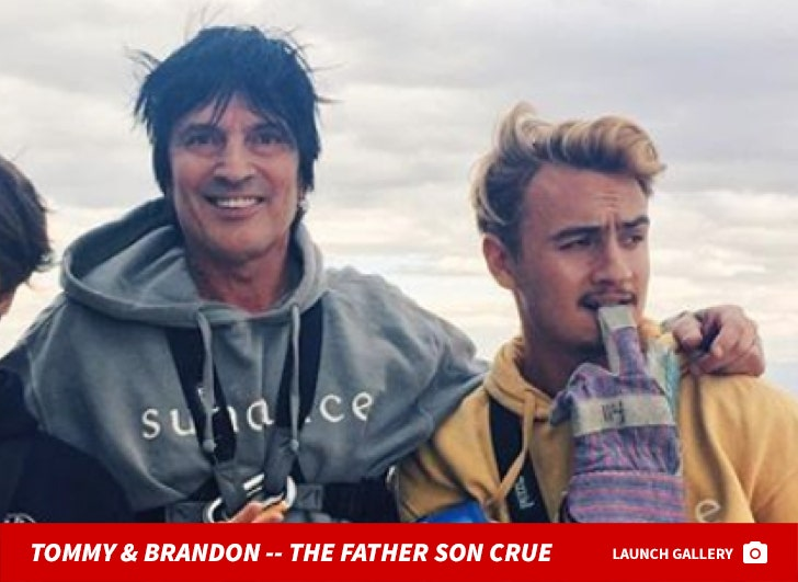 Tommy and Brandon -- The Father/Son Photos