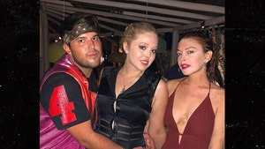 Lindsay Lohan and Tiffany Trump Party on Mykonos