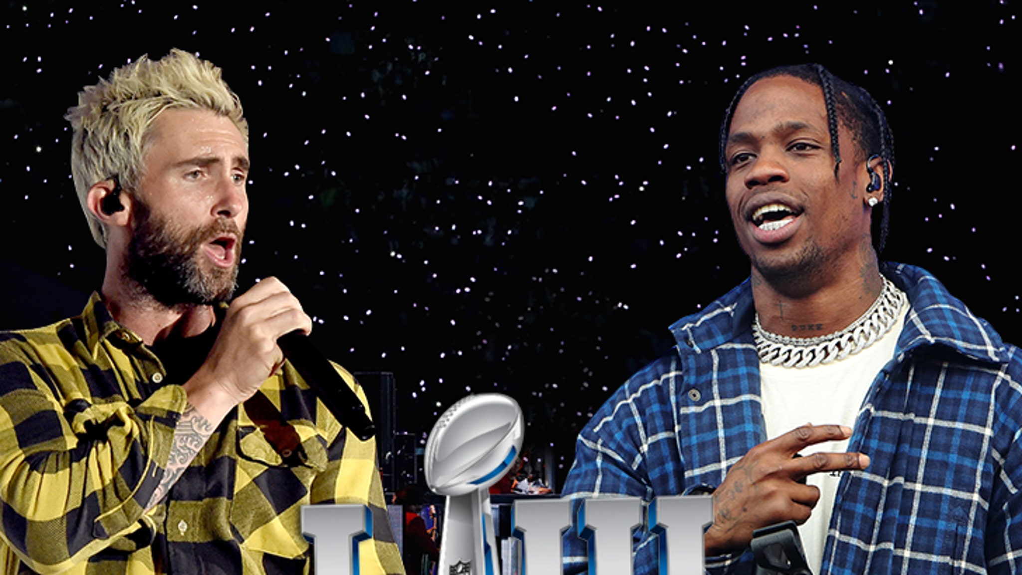 Travis Scott Signs On with Maroon 5 for Super Bowl ... Halftime Show's Gonna Be Sicko