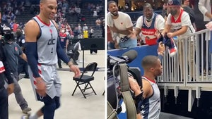 Russell Westbrook Gifts Game-Worn Kicks To Young Fan Days After Popcorn Incident