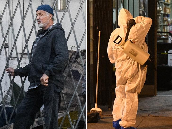Sylvester Stallone Filming Samaritan