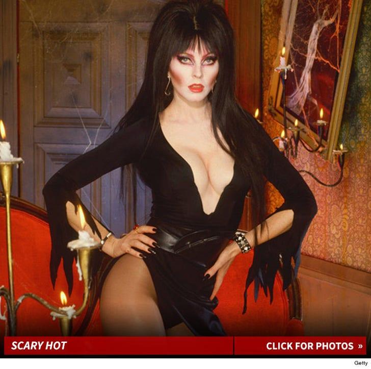 Elvira's Scary Hot Halloween Photos